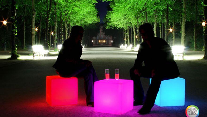 Location de cubes lumineux sans fil